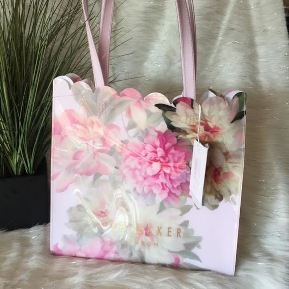 08106924ab6cd Ted Baker London Large Floral PVC Tote New!
